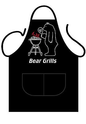 Unisex Aprons Bear Grills Cotton Novelty Kitchen BBQ Chef Apron Birthday gift