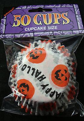 50 X Pas Cher Citrouille Halloween Moules Cupcake Fée Boites à Gâteau Cuisson