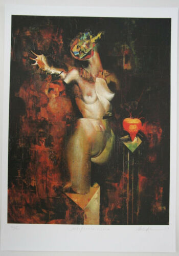 DAVE MCKEAN LTD S&N NARCOLEPSY PRINT: UNEXPECTED NEED ABSTRACT FIGURE