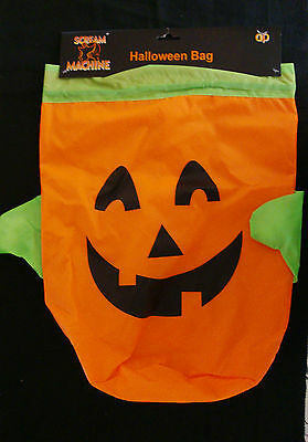 Halloween Goody Bags For School (Large Fabric Spooky Halloween Bags Trick or Treat / School PUMPKIN)