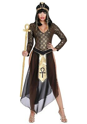 Women's Queen Cleo Cleopatra Pharaoh Queen Egypt Nile SIZE S (with defect)