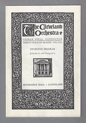 Violinist NATHAN MILSTEIN / Cleveland Orchestra / Szell 1952 Concert Program