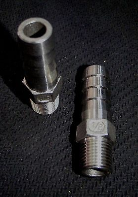 Hb-012037 Stainless Steel Hose Barb 18 Npt - 38 Hose Pipe