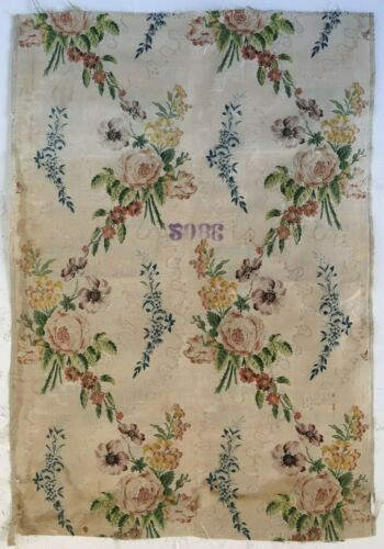 Beautiful Rare 18th Century French Silk Brocade Fabric   (2896)