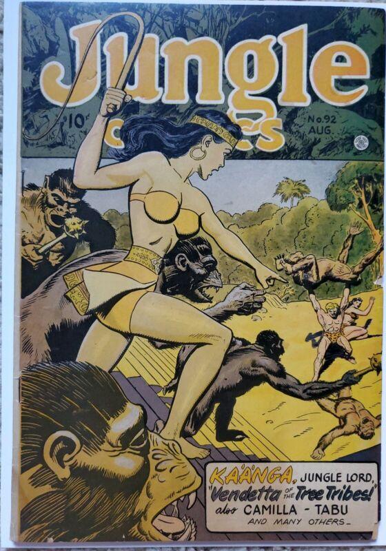 JUNGLE COMICS #92 VG/FN 5.0 FICTION HOUSE 8/1947