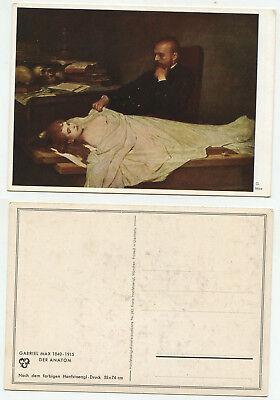 01618 - Gabriel Max: Der Anatom - alte Ansichtskarte