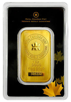 Royal Canadian Mint RCM 1 oz Gold Bar Sealed with Assay Certificate SKU27048