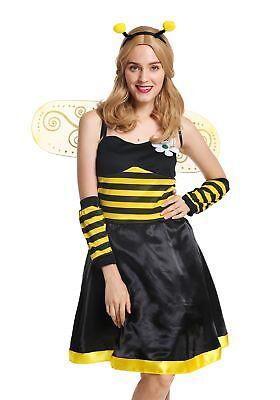 ostüm Frauen Flotte Biene Bienchen Wespe Hummel Gr M/L W-0057 (Biene Kostüm Frauen)