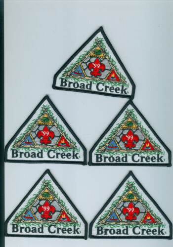 Five  1999 Broad Creek Scout Reservation patches Baltimore Area Council