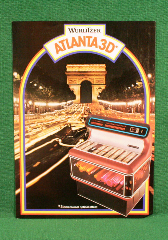Original Wurlitzer Atlanta 3D Jukebox Brochure