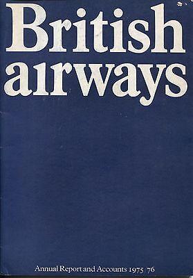 BRITISH AIRWAYS 1975-76 ANNUAL REPORT & ACCOUNTS BA