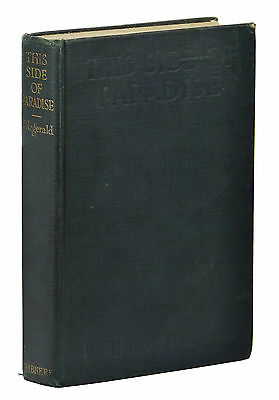 This Side Of Paradise   F  Scott Fitzgerald   First Edition 1920   1St Printing