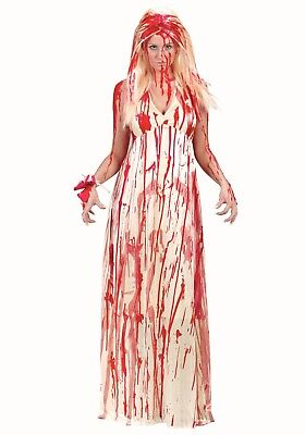 Ladies College Prom Nightmare girl fancy dress costume Halloween Outfit Wig