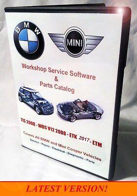 Bmw Tis   Wds   Etk   Epc   Oem Service Shop Repair Manual Set   Combo Pack Dvd