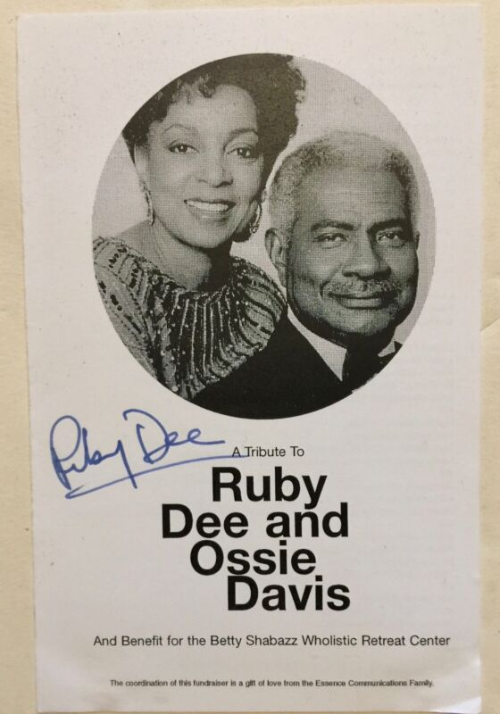 2000 RUBY DEE signed programBetty Shabazz (wife Malcolm X) Benefit in Harlem