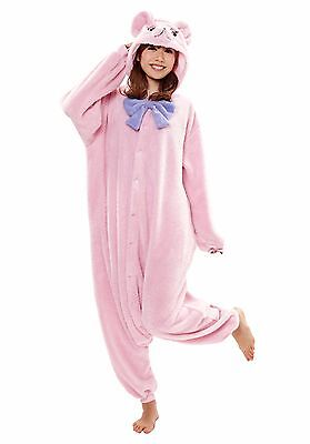 SAZAC Teddy Bear Pink Kigurumi - Adult Costume from USA - Adult Teddy Bear Costume