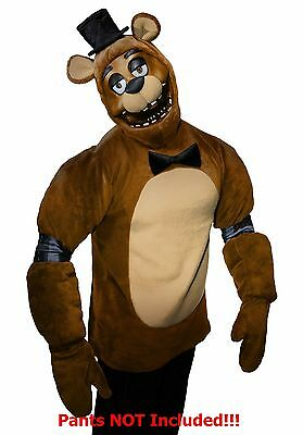Top Five Halloween Costumes (Five Nights at Freddy's FREDDY Plush Costume Top Size Teen XL New Rubies 12 -)