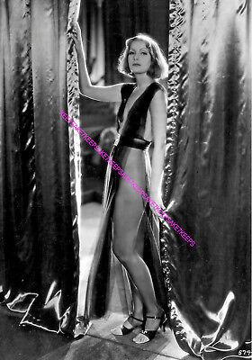 ACTRESS GRETA GARBO PRE-CODE VERY SKIMPY COSTUME LEGGY PHOTO - Actress Costumes