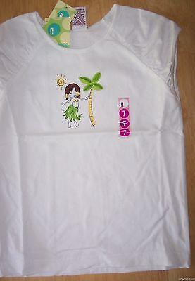 Girls 8 Gymboree Summer Islands Hula Girl Palm Tree White Top Rare Cute