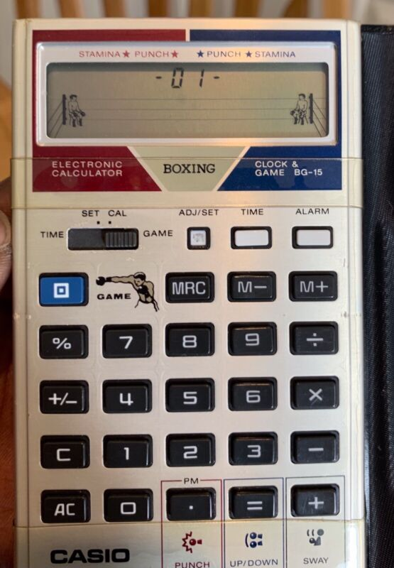 Rare Vintage Casio Calculator with Boxing Game BG-15...Excellent Condition!