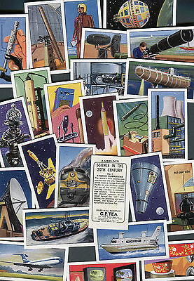 "GEORGE PAYNE G.P TEA 1963 SET OF 25 ""SCIENCE IN THE 20th CENTURY"" TRADE CARDS"