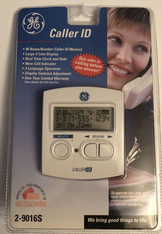 GE Caller ID 2-9016S New In Package Name Land Line Identification Phone Display