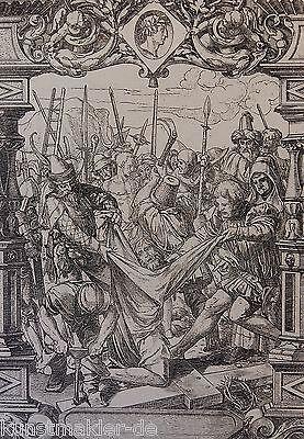 Hans HOLBEIN (1497-1543) Radierung Édouard Lièvre (1828-1886) La Passion 08/10