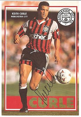Keith Curle, Manchester City Man City signed autographed football book picture.