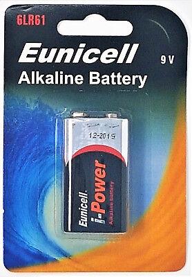 9v Alkaline-batterie (1 x 6LR61 9V Block Alkaline Batterie MN1604 ( 1 Blister a 1 Batterie ))