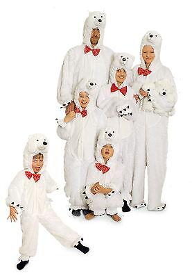 Eisbär Kostüm Overall Plüsch Tier Eisbärkostüm Party Polarbär Eisbäroverall (Eisbär Kostüm)