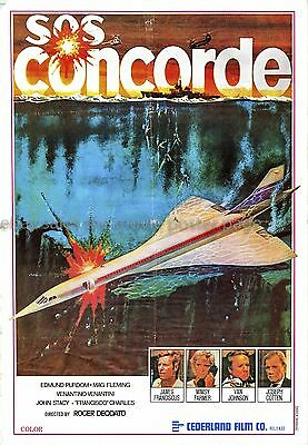 Concorde Affaire '79 James Franciscus Lebanese one-sheet movie poster