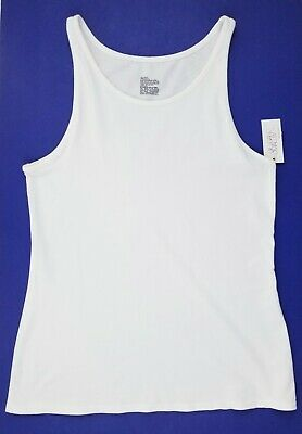 Gilligan & O'Malley Womens Tank Top Sleep Cami Size M L XL White -