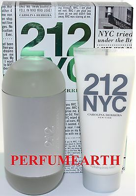 212 NYC FOR WOMEN 2 PIECES SET WITH 3.4 OZ EDT SPRAY + BODY LOTION