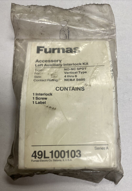 Furnas 49L100103 Ser A Left Auxiliary Interlock Kit NOS