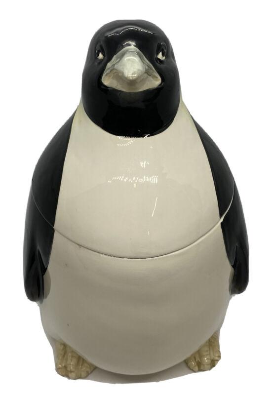 Vintage Otagiri 1979 Penguin Cookie Jar