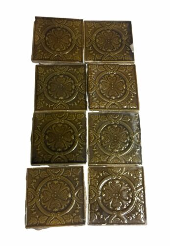 Antique Brown Floral 6 in. Tile Set