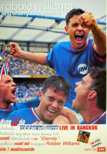 ROBBIE WILLIAMS 2000 BANGKOK, THAILAND CONCERT TOUR POSTER - Live In Bangkok