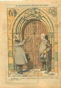 """Caricature Politique Alexandre Millerand au Palais des Papes 1921 ILLUSTRATION - France - Commentaires du vendeur : """"OCCASION"""" - France"""