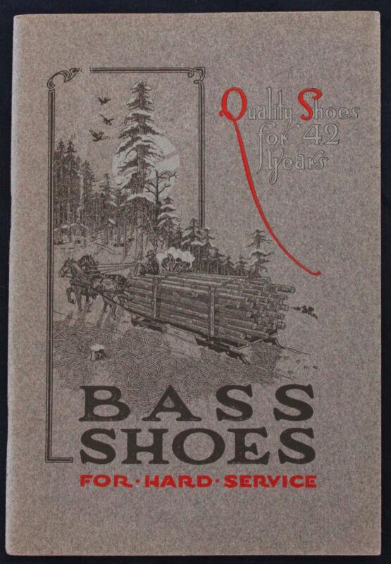 Original 1918 G.H. Bass Shoe/Boot Catalog Wilton Maine
