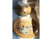 !! Nippon Tokusei Satsuma  Teetasse 2tlg japanisch Lithophanie !!!