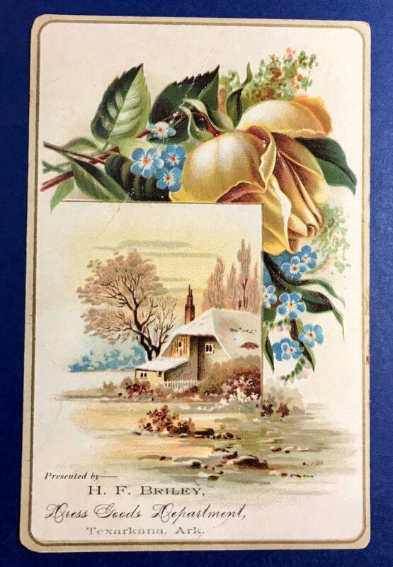 Texarkana Arkansas 1880 Greeting Card Briley Dress Good Matson Family Trade Card