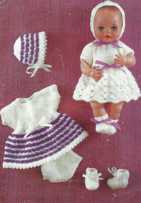 DOLLS CLOTHES KNITTING PATTERN BABY ALIVE TINY TEARS  12 INCH DOLL ( 1830)