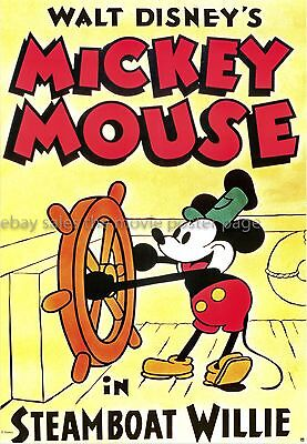 Steamboat Willie 26x35 Disney Cartoon reprint movie poster