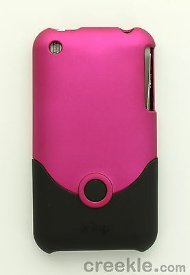 iFrogz Luxe Hard Shell Snap On Case Cover Shell for iPhone 3G 3GS - Pink & Black Luxe Hard Case