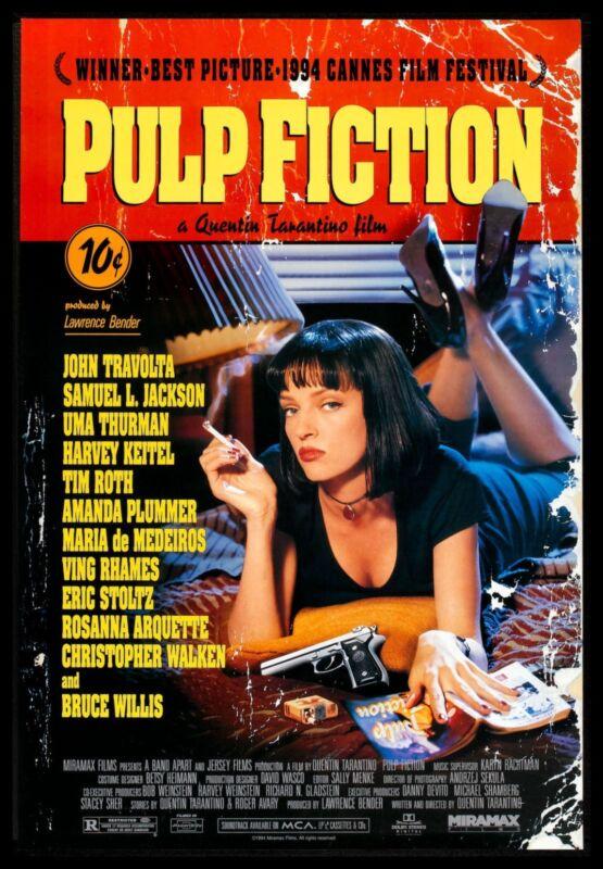 Pulp Fiction FRIDGE MAGNET 6x8 Quentin Tarantino Magnetic Movies Poster Print