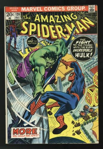Amazing Spider-man #120, FN+ 6.5, Spidey vs. The Hulk!