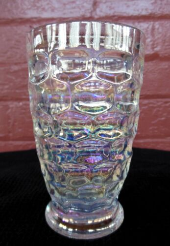 Federal Glass Iridescent Carnival Colonial Yorktown 10 ounce Tumbler