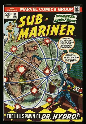Sub-Mariner #61 VF 8.0 Marvel Comics