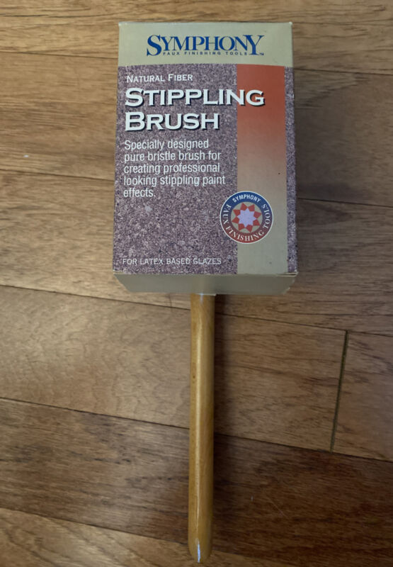Symphony Stippling Brush Natural Fiber Professional Looking Paint Effects