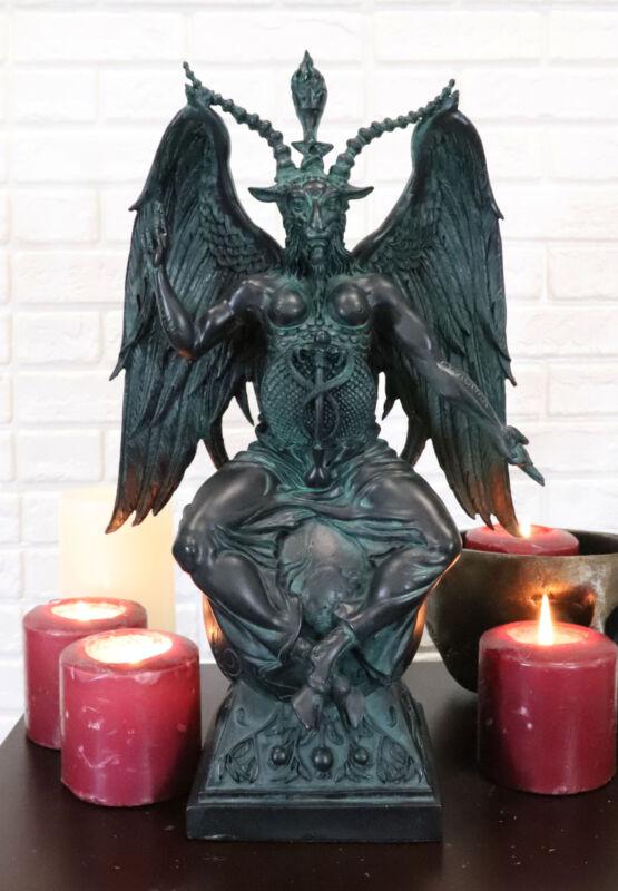 """Ebros 15""""H Church of Satan Baphomet Sabbatic Goat Idol Satanic Occultic Statue"""